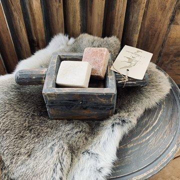 Amber bakje hout