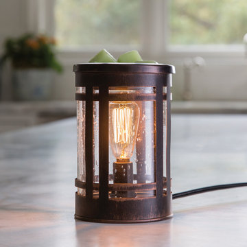 Candle Warmers Electrische geurbrander Edison Bulb elektrisch bruin / brons van metaal