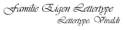 Familienaamsticker Eigen Lettertype